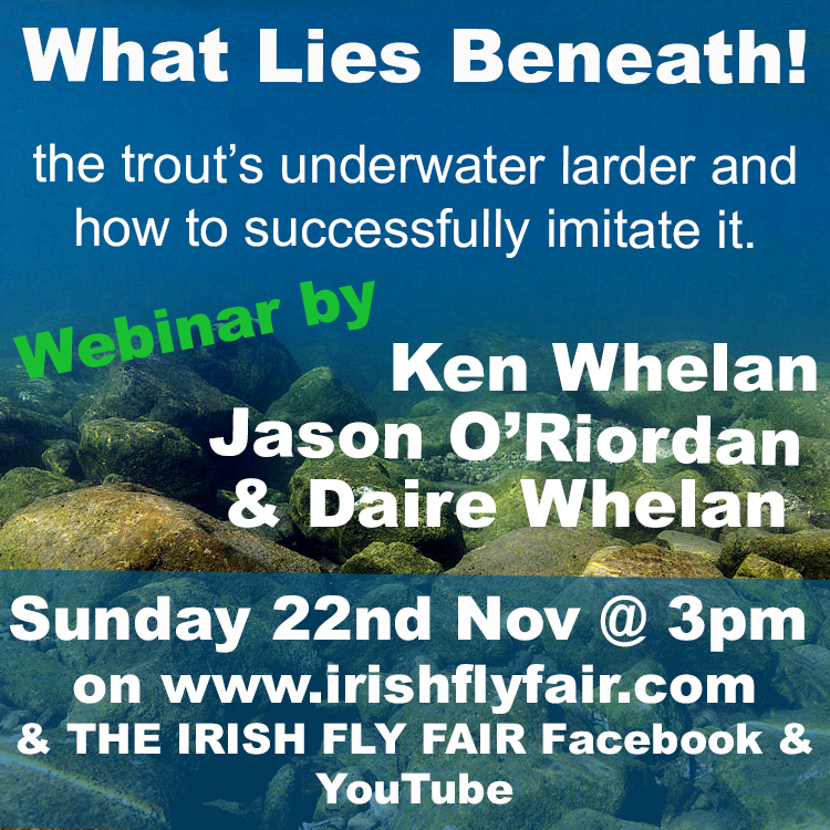 What lies Beneath? Webinar by Ken Whelan, Jason O'Riordan & Daire Whelan at The Virtual Irish Fly Fair 2020
